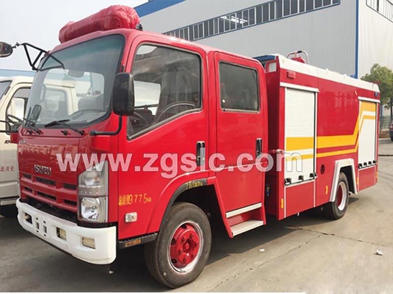 庆铃五十铃3吨水罐消防车(国五)